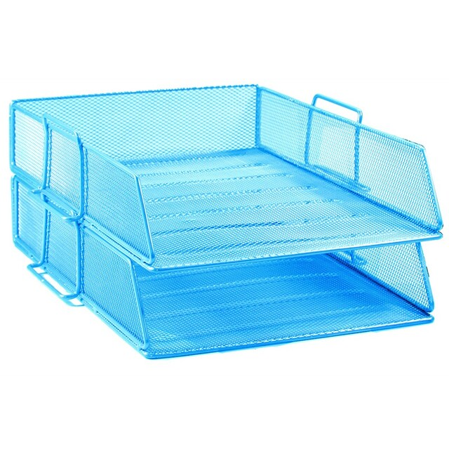 2-Tier Document Tray Blue ONE H-0821