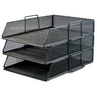 ONE H-0831 3-Tier Document Tray Black