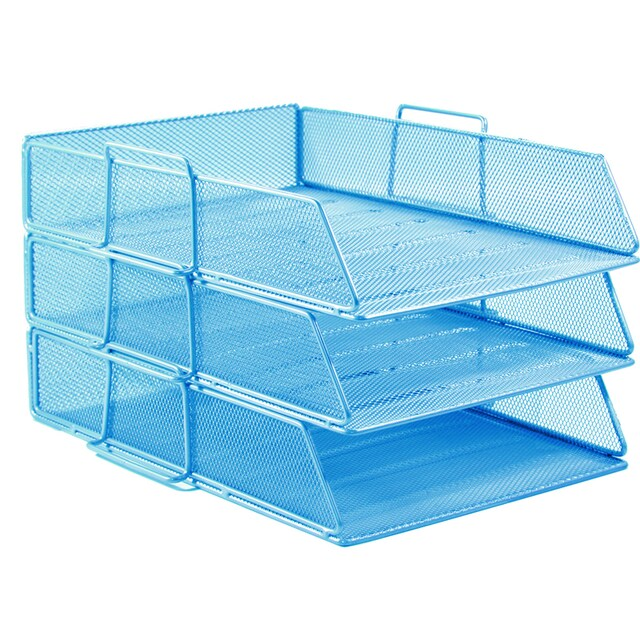 3-Tier Document Tray Blue ONE H-0831
