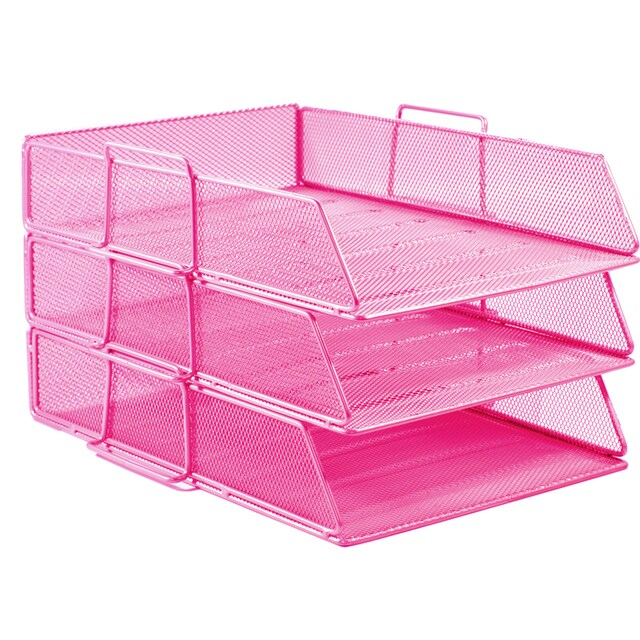 3-Tier Document Tray Pink ONE H-0831
