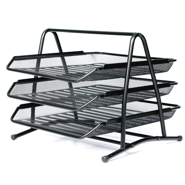 ONE H-0938 3-Tier Document Tray Black