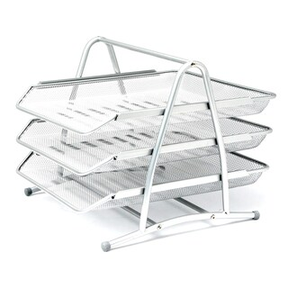 ONE H-0938 3-Tier Document Tray Silver