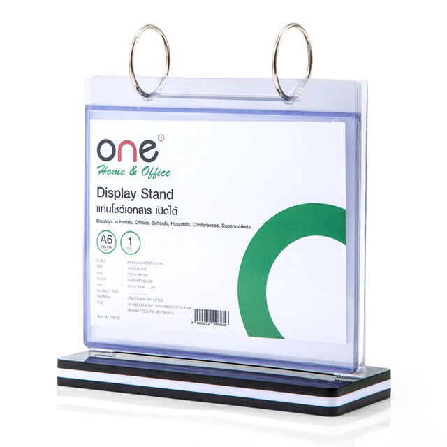 ONE K-6106 Display Stand 6 Pages Black-White
