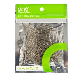 Paper Clip 33mm. Silver (100/Bag) ONE 100433S