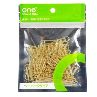Paper Clip 33mm. Gold (100/Bag) ONE 100333