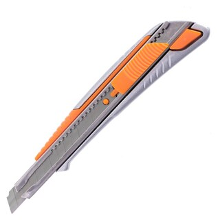 Cutter Knife 9mm. Silver-Orange