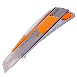 Cutter Knife 18mm. Silver-Orange