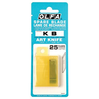 Cutter Blade 6 mm. (25/Pack) Olfa KB