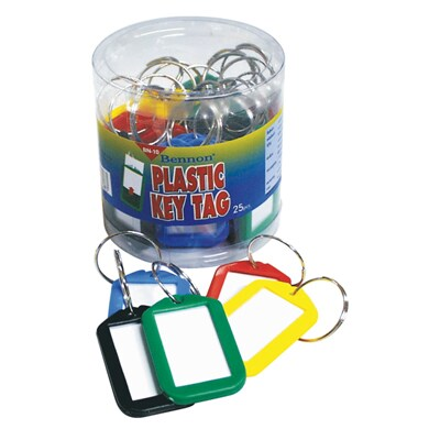Pastic Key Tag (25/Pack) Bennon BN-10