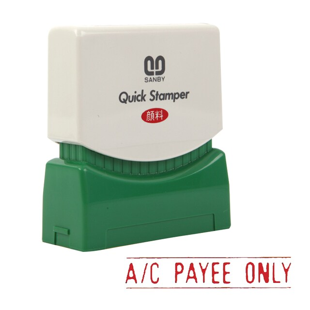 (A/C PAYEE ONLY) Quick Rubber Stamp Sanby A-2