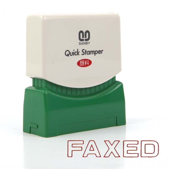Sanby F-25 FAXED Quick Rubber Stamp