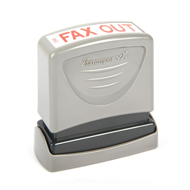 (FAX OUT) Pre-Inked Rubber Stamp Xstamper 1348
