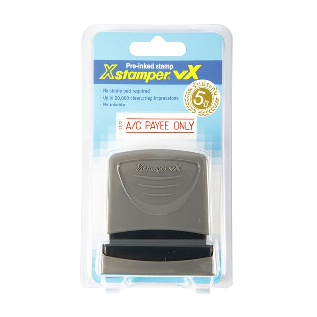 (A/C PAYEE ONLY) Pre-Inked Rubber Stamp Xstamper 1122