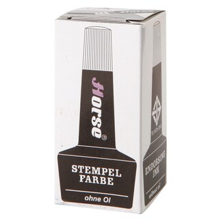 Stamp Pad Refill Ink 28 cc. Black ตราม้า