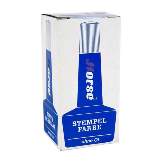 Stamp Pad Refill Ink 28 cc. Blue ตราม้า