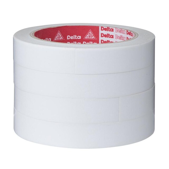 Double Sided Tape 18MM.x20Y/White (Pack4) เดลต้า