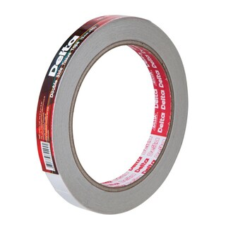 Double Coated Tissue Tape 12 mm.x20y. White เดลต้า