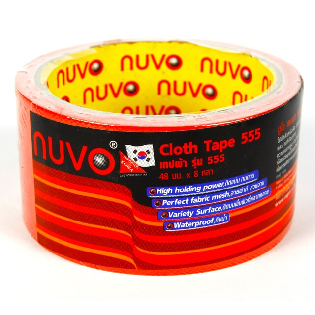 Nuvo 555 Cloth Tape 48mm.x8y. Red