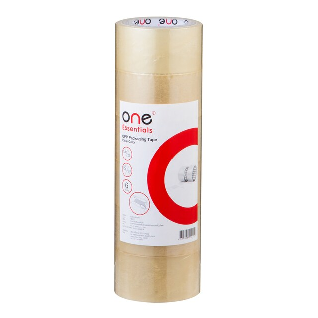 OPP Tape 48mm.x45y (6/Pack) Clear ONE