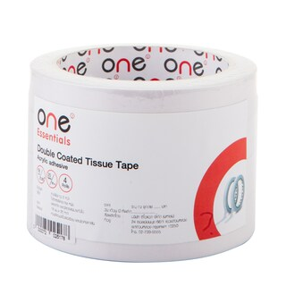 Double Coated Tissue Tape 18mm.x20y (4/Pack) ONE