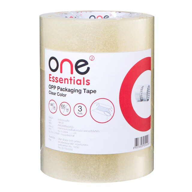 Tape OPP 48mm.x100y (3/Pack) Clear ONE