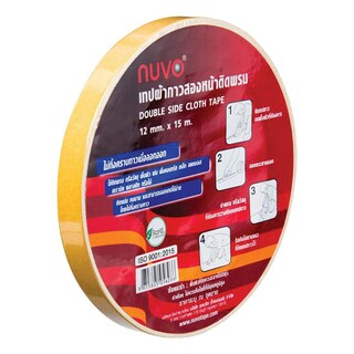Double Sided Cloth Tape 12mmX15m นูโว