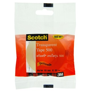 "Transparent Tape 1"" Core 3/4""x36y. Scotch 500"