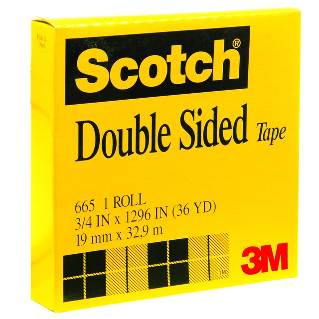 """Double Sided Tape 3"""" Core 3/4""""x36 y. Scotch 665"""