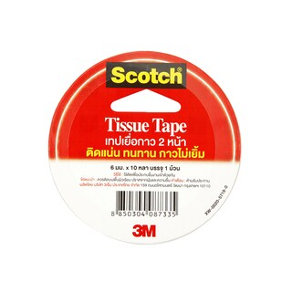 Double Coated Tissue Tape 6 mm.x10y. สก๊อตช์