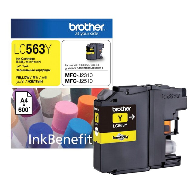 LC-563Y Inkjet Cartridge Yellow Brother