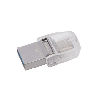 Kingston DataTraveler Micro Duo 3C FlashDrive 64G Grey