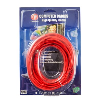 Lan Cable 9m. Mixed Colors TELESONIC CA-305