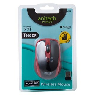 Mouse Wireless Red Anitech W214