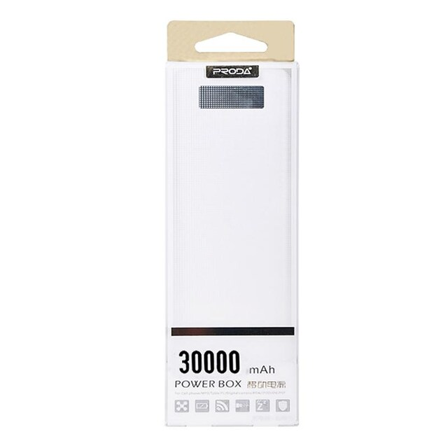 Remax 30000LCD Power Bank 30000mAh White