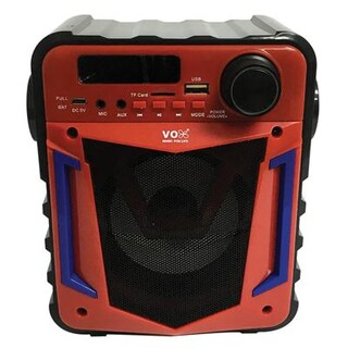 VOX M1 Bluetooth Speaker Red With Wireless Microphone