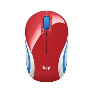 Ultra Portable Wireless Mouse Red Logitech M187