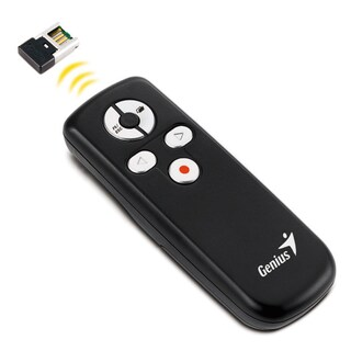 Laser Pointer Wireless Presentation Remote Black Genius Media 100