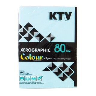 KTV Color Copier Paper A4 80 gsm. Blue 500/Pack