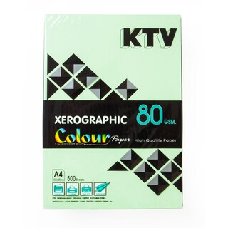 KTV Color Copier Paper A4 80 gsm. Green 500/Pack
