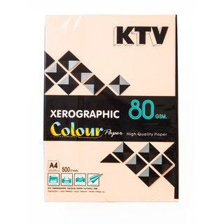 KTV Color Copier Paper A4 80 gsm. Orange 500/Pack
