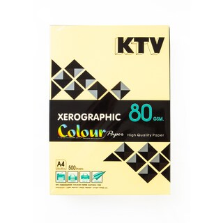 Color Copier Paper A4 80 gsm. Yellow (500/Pack) KTV