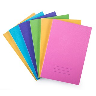 777 NA970 Soft Cover Notebook 16x23.5cm. 70Sheets Asst. Colors 6Books/Pack