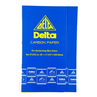 Delta Carbon Paper 21x33cm. Blue 100Sheets