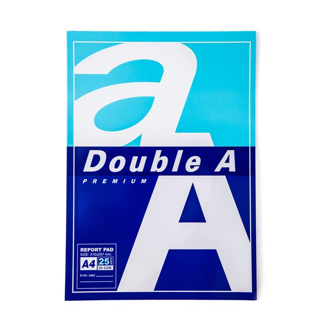 Report Pad A4 80gsm  (25 Sheets/Pack) Line2Slide Double A