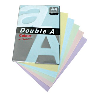 Color Copier Paper A4 80 gsm. (50Sheets/Pack) 4 Colors Double A