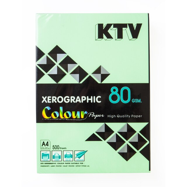 KTV Colour Copier Paper A4 80 gsm. Dark Green 500/Pack