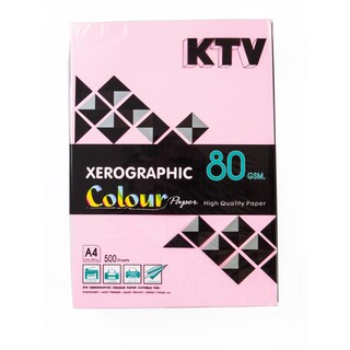 Colour Copier Paper A4 80 gsm. Dark Pink (500/Pack) KTV