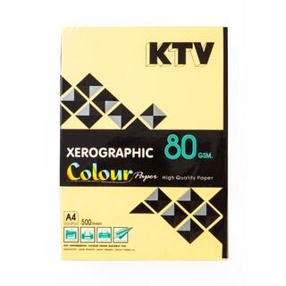 KTV Color Copier Paper A4 80 gsm. Dark Yellow 500/Pack