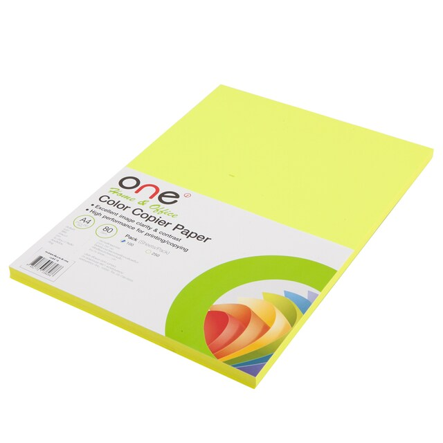 Colour Copier Paper 18 Reflective Yellow (100Sheets) ONE
