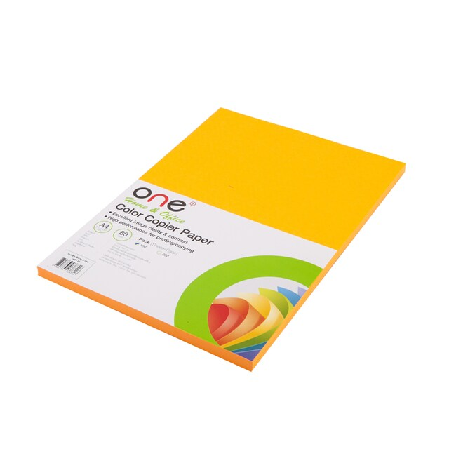 Colour Copier Paper 21 Reflective Orange (100Sheets) ONE
